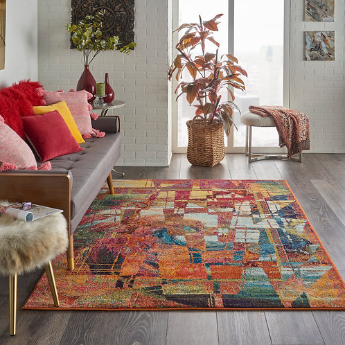 Celestial CES06 Multicolor Abstract Colorful Area Rug