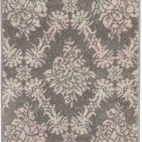 Nourison Tranquil 2'x4' Pink and Grey Vintage Small Rug