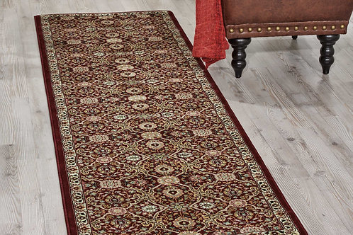 kathy ireland Home Antiquities ANT08 Dark Red 8' Runner  Hallway Rug