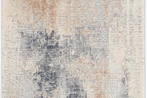 Nourison Rustic Textures RUS02 Beige and Grey 8' Runner  Hallway Rug
