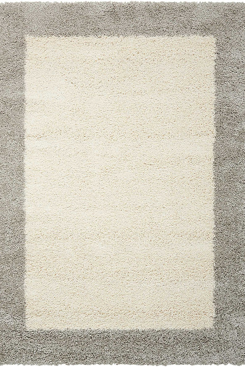 Amore AMOR5 White and Grey Area Rug