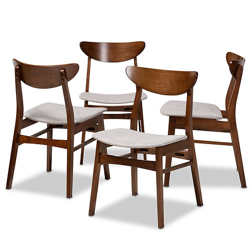 Danica-Parlin-Smoke/Walnut-DC-DC 4-PIECE DINING CHAIR SET