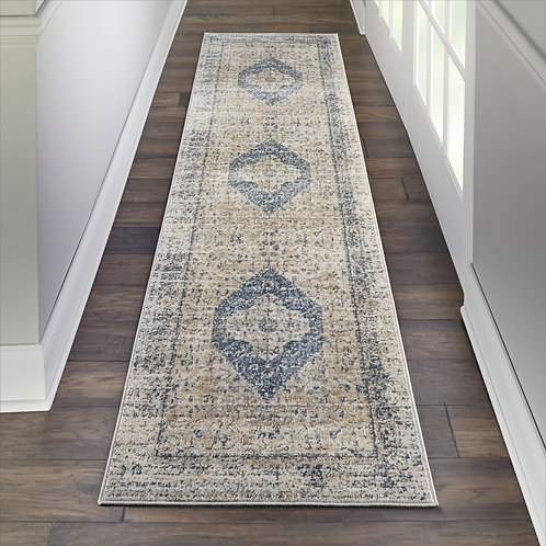 Malta by kathy ireland Home MAI11 Ivory/Blue Rug