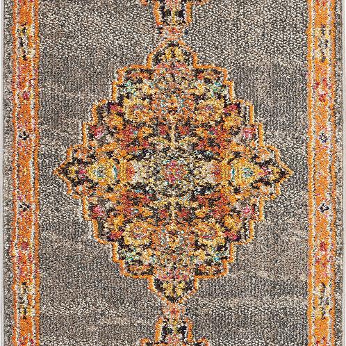 Nourison Passionate 2' X 4' Grey Multicolor Persian Area Rug