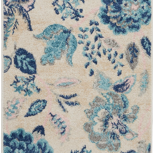Nourison Tranquil 2'x4' Blue and White French Country Small Rug