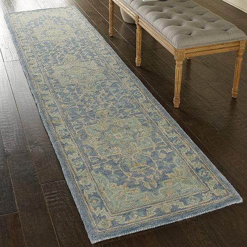 Jazmine JAZ01 Blue  Wool Hallway Rug