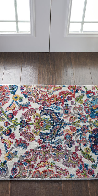 Ankara Global ANR06 Blue and Ivory French Country Area Rug