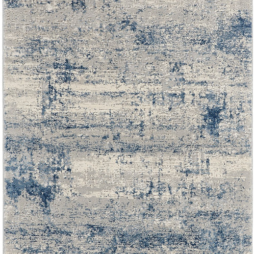 Nourison Rustic Textures RUS10 Blue and Grey 8' Runner  Hallway Rug