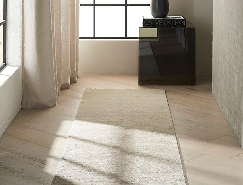 Calvin Klein Jackson CK781 Ivory and Grey 8' Runner Striated Hallway Rug