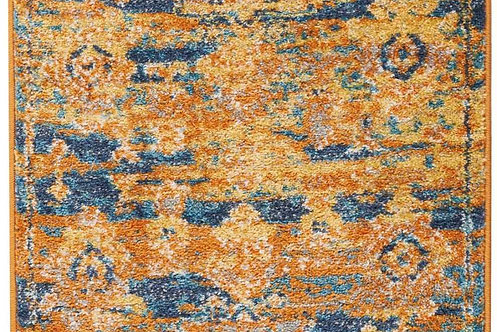 Passion PSN07 Orange and Blue Rug