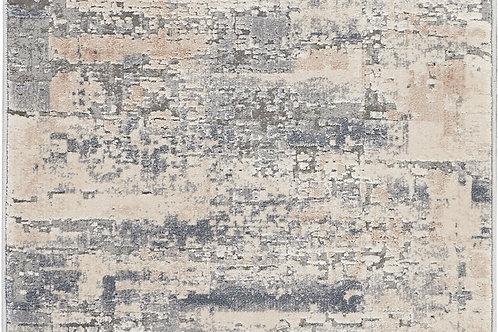 Nourison Rustic Textures RUS04 Beige and Grey 8' Runner  Hallway Rug