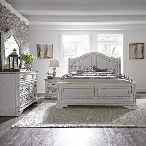 Magnolia Manor (244-BR) Queen Sleigh Bed