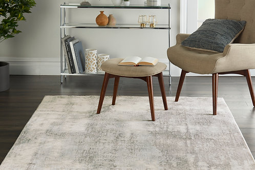 Etchings Grey/Light Blue Painterly Area Rug