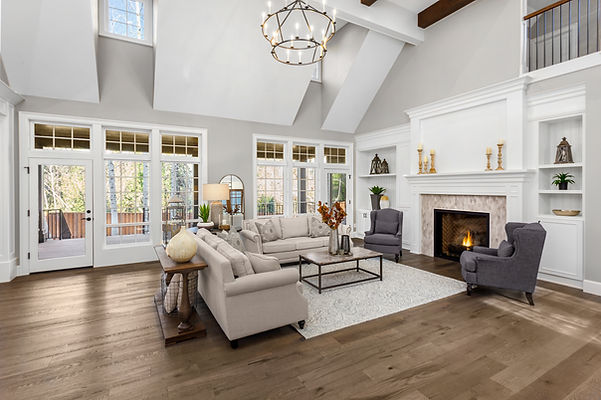 Beautiful living room in new traditional