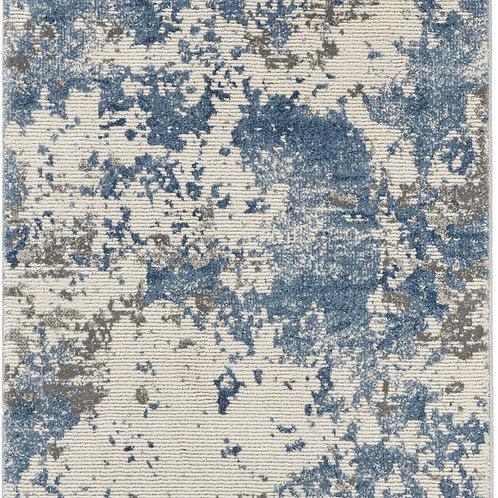 Nourison Rustic Textures RUS08 Blue and Grey 8' Runner  Hallway Rug