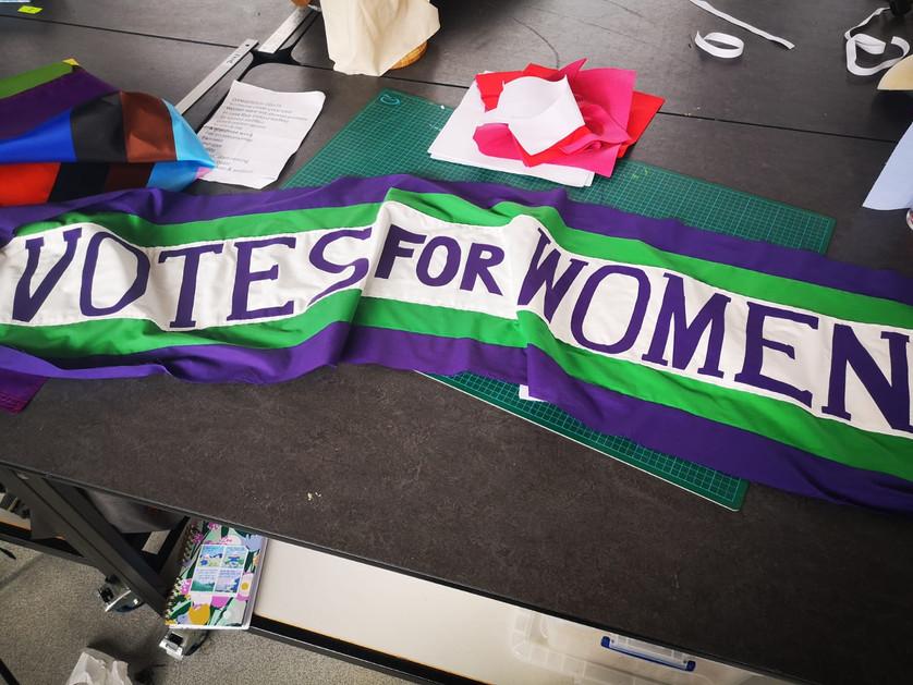 Votes for Women banner