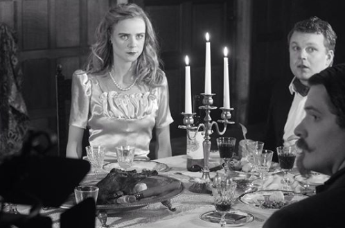 Dinner party on the set of Here Comes Hell
