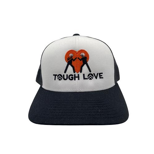 """White & Black """"Tough Love"""" Hat"""