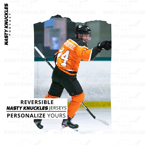 Personalized NASTY KNUCKLES Reversible orange black Jersey