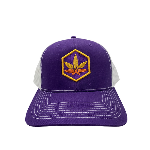 "Purple Bodychek ""Cannabis Leaf"" Hat"