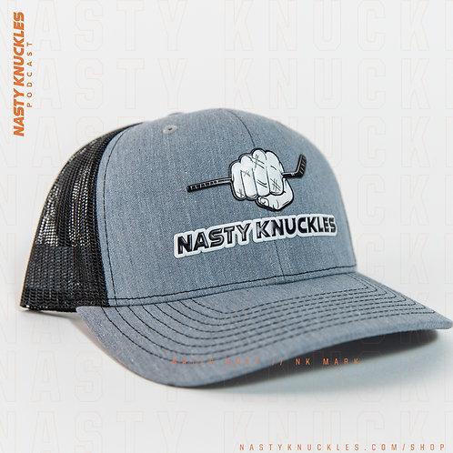 NASTY KNUCKLES Grey & Black hat