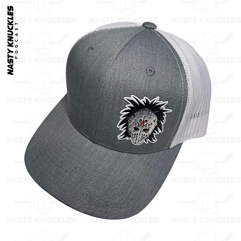 OLD SCHOOL MASK | Grey & White snap back hat