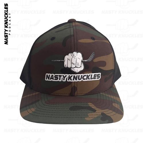 NASTY KNUCKLES Camo snap back hat