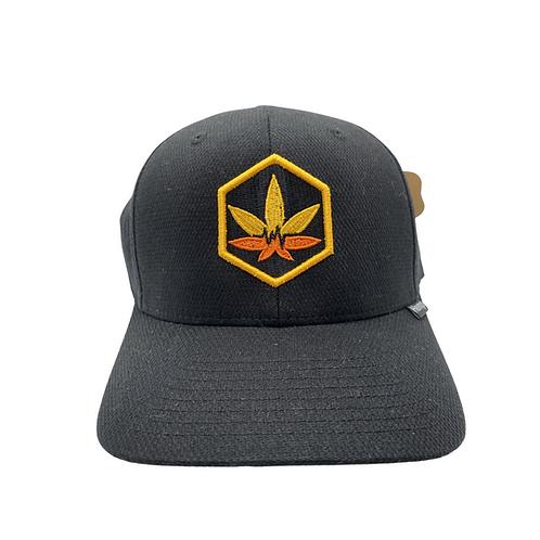 "Black Hemp Bodychek ""Cannabis Leaf"" Hat"