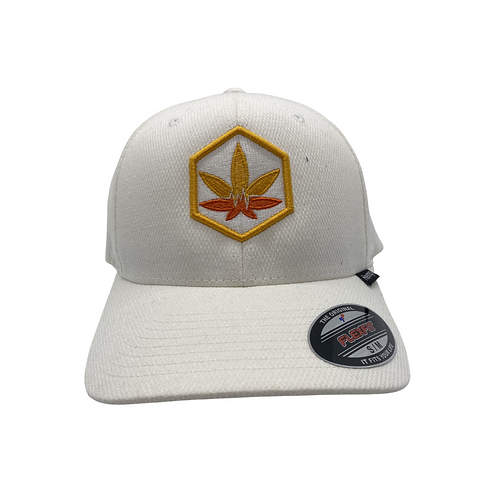 "White Hemp Bodychek ""Cannabis Leaf"" Hat"