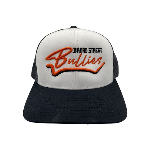 "White & Black ""Broad St Bullies"" Hat"
