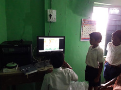 Students using computer and EET data