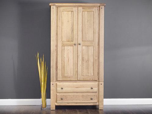Donny Oak 2 Door Wardrobe