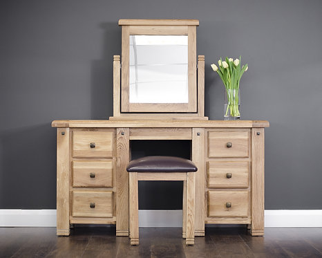 Donny Oak Vanity Set
