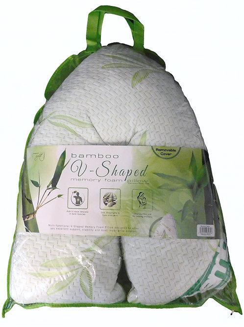 V-Shape Memory Foam Pillow