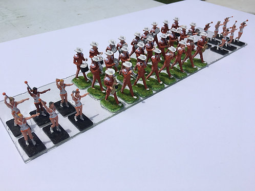 25 PIECE MARCHING BAND PAINTED