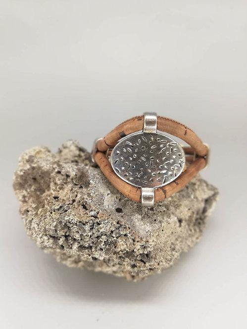Bracelet Antik Cordon Liège Chataigne