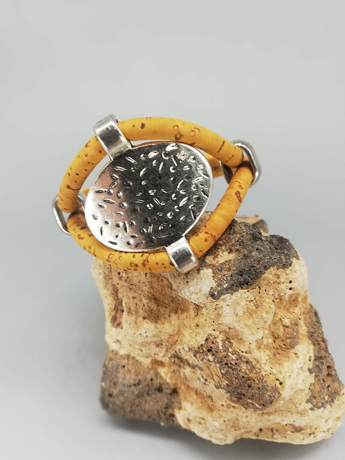Bracelet Antik Cordon Liège Moutarde