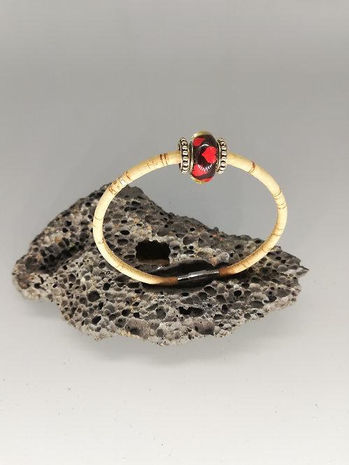Bracelet Perle de Verre Rouge Noire