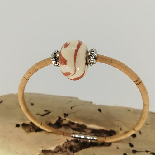 Bracelet Céramik Blanc Chataigne