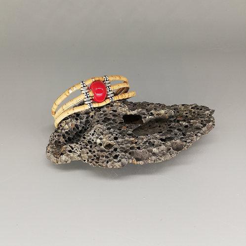 Bracelet Céramik Triple Rouge Rubis