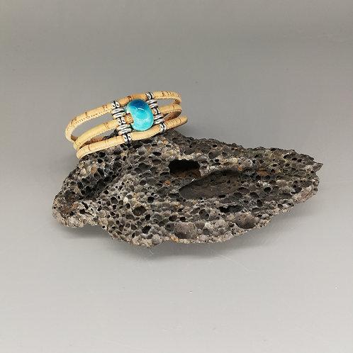Bracelet Céramik Triple Bleu Lagon