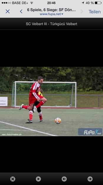 6. Spieltag SC Velbert 3 - FC Türkgücü Velbert Endstand 0-2