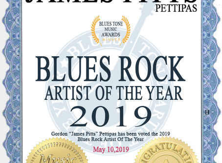 James Pitts Voted 2019 Blues Rock Artist Of The Year.
