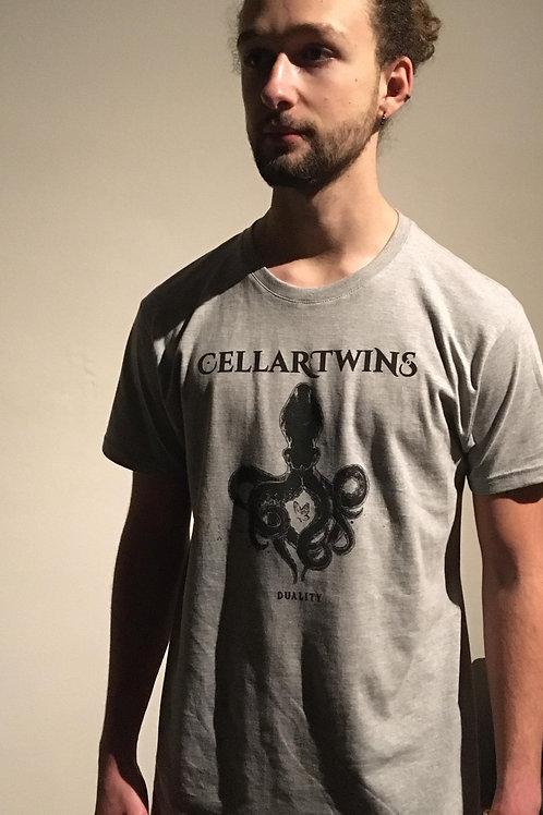 T-shirt gris Duality