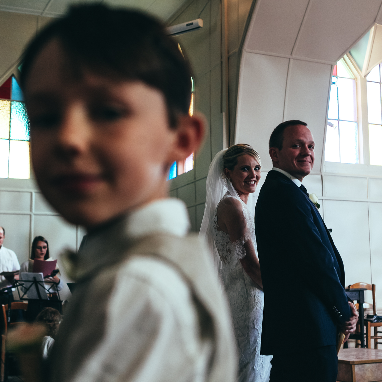 Photo volée pendant la cérémonie