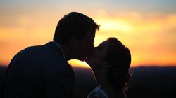 Séance photo au coucher de soleil