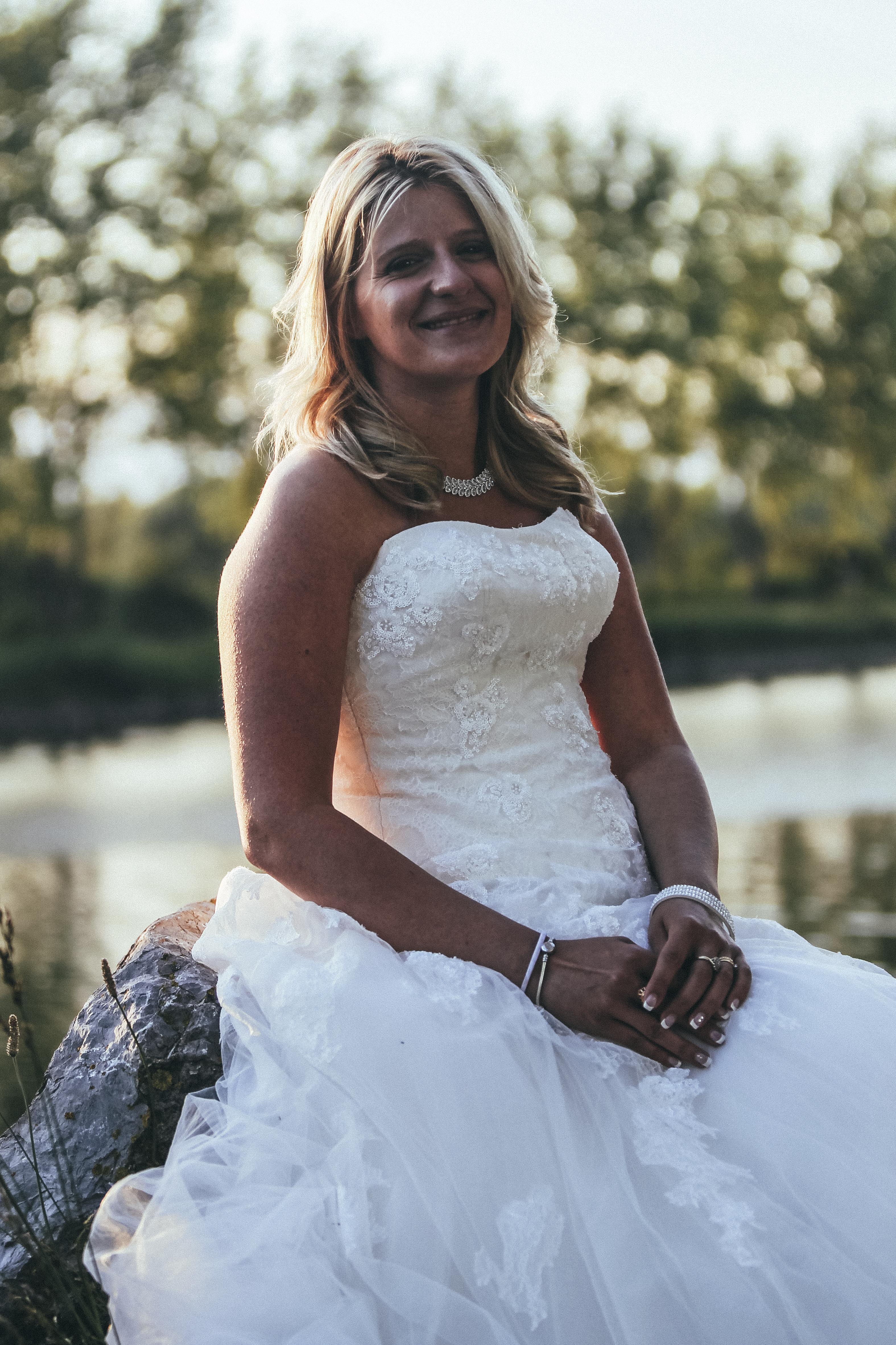 Portrait d'une magnifique mariée