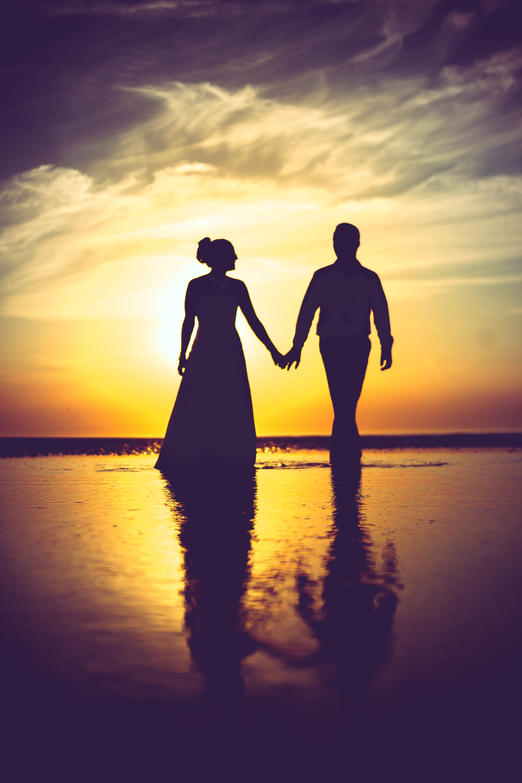 Silhouettes mariés