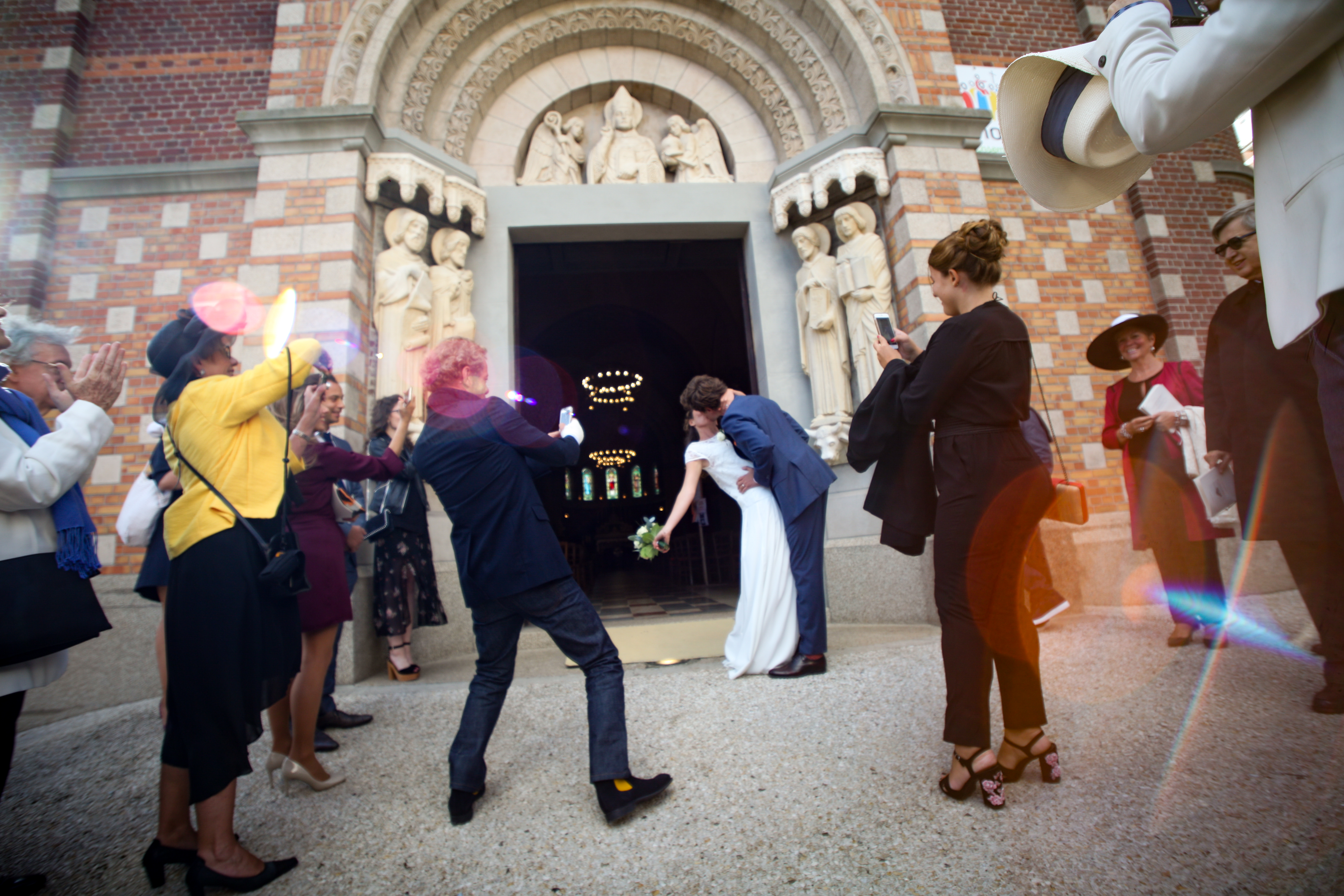 La sortie de l'église