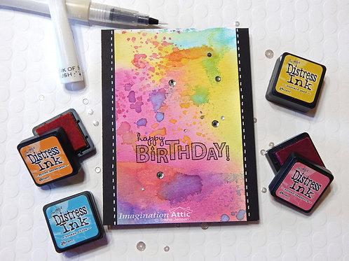 Splash of Color Birthday Card